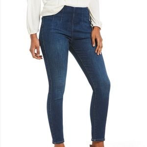 Ultra high pull-on jeans